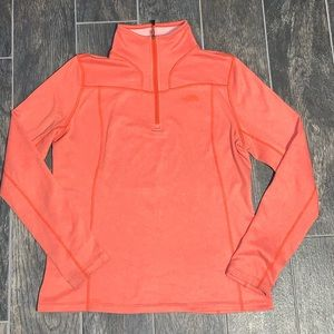 The North Face Orange Pullover 1/4 Zip Jacket